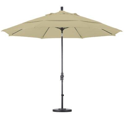 California Umbrella 11' Fiberglass Market Collar Tilt Umbrella - Finish: Matted White, Fabric: Pacifica Taupe at Sears.com
