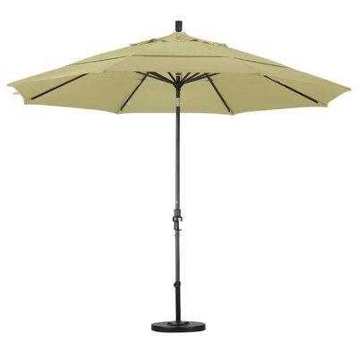 California Umbrella 11' Aluminum Market Umbrella (2 Pieces) - Finish: Matted Black, Fabric: Pacifica Hunter Green at Sears.com