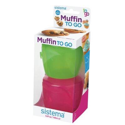 2-Piece Muffin/Cupcake To-Go Storage Set
