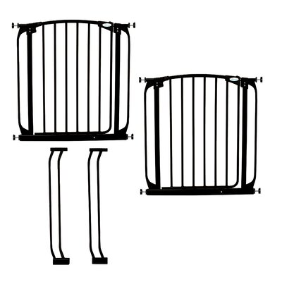 Image of Dreambaby Chelsea Swing Close Gate Combo Pack Type: Value Pack, Color: Black