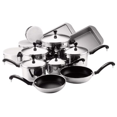 Farberware Classic Stainless Steel 17 Piece Cookware Set 71238