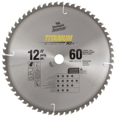 "Vermont American 12"" 60 TPI Titanium 10X Series Carbide Tipped Circular Saw Bla at Sears.com"