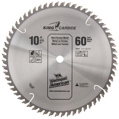 "Vermont American 60 TPI 10"" Semi-Industrial Carbide Tipped Circular Saw Blade  2 at Sears.com"