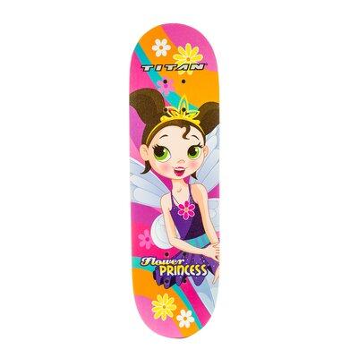 Titan Flower Princess Pink 28-Inch Complete Skateboard for Girls 8+