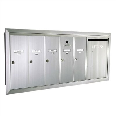 Florence 1260 Series Vert Mailbox Unit w/ Outgoing Mail Slot -Color:Postal Grey Powder Coat, Number of Compartments & Doors:1 Dbl. Wide D at Sears.com
