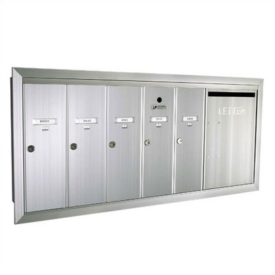 Florence 1260 Series Vert Mailbox Unit w/ Outgoing Mail Slot -Number of Compartments & Doors:1 Dbl. Wide Door & 5 Compartments, Color:Dar at Sears.com