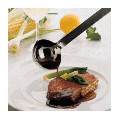Stainless Steel 1.3 Ounce Portioning Ladle with a Hooked Handle