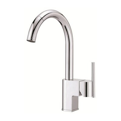 Como Single Handle Deck Mount Kitchen Faucet Finish: Chrome