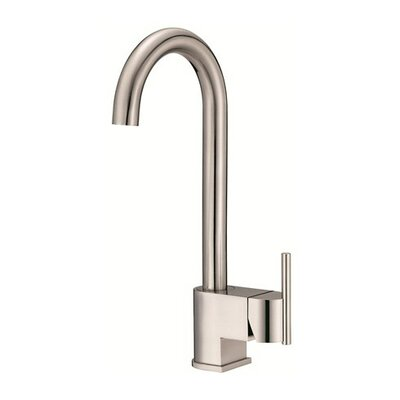 Como Single Handle Deck Mount Bar Faucet Finish: Stainless Steel