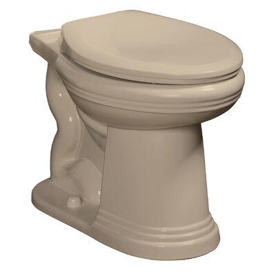 Orrington 1.6 GPF Elongated Toilet Bowl Finish: Biscuit