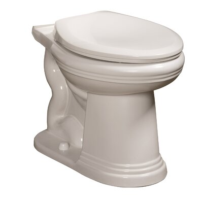 Orrington 1.6 GPF Elongated Toilet Bowl Finish: White