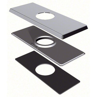 4 Centerset Square Cover Plate Finish: Chrome