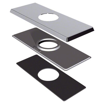 4 Centerset Square Cover Plate Finish: Brushed Nickel