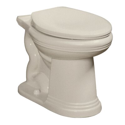 Orrington High Efficiency 1.28 GPF Elongated Toilet Bowl Finish: Biscuit