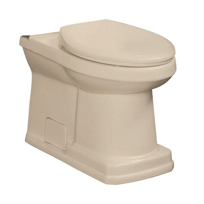 Cirtangular 1.6 GPF Elongated Toilet Bowl Finish: Biscuit