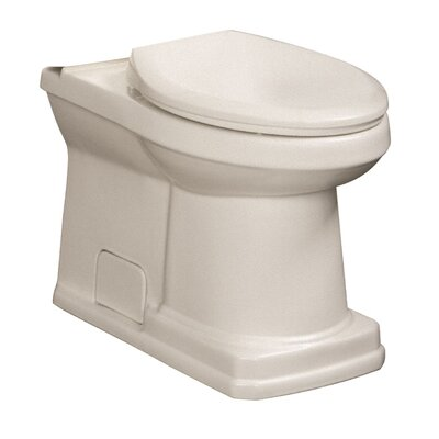 Cirtangular 1.6 GPF Elongated Toilet Bowl Finish: White