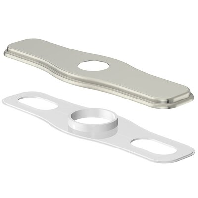 8 Centerset Cover Plate Finish: Brushed Nickel