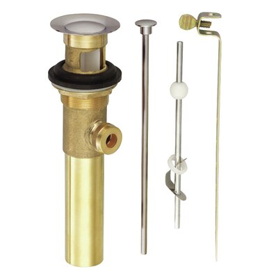 Accessories 2.44 Toe TouchBathroom Sink Drain With Overflow Finish: Polished Brass