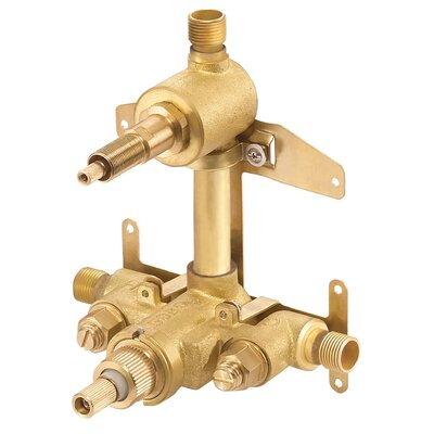 2 Handle Thermostatic Shower Valve with Ceramic Disc Volume Control