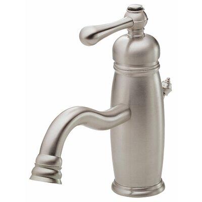 Opulence Single Handle Single Hole Bathroom Faucet Finish: Brushed Nickel