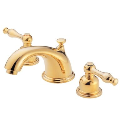 Sheridan Double Handle Mini Widespread Bathroom Faucet Finish: Polished Brass
