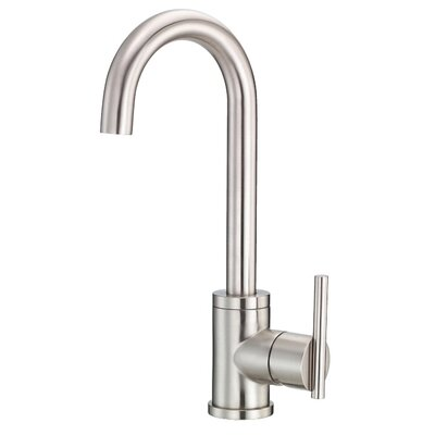 Parma Single Handle Deck Mount Kitchen Faucet Finish: Stainless Steel