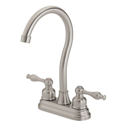 Sheridan Double Handle Deck Mount Kitchen Faucet Finish: Stainless Steel