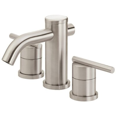 Parma Double Handle Mini Widespread Bathroom Faucet Finish: Brushed Nickel