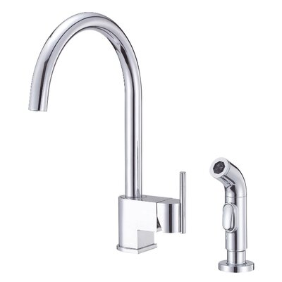 Como Single Handle Deck Mount Kitchen Faucet with Spray Finish: Chrome
