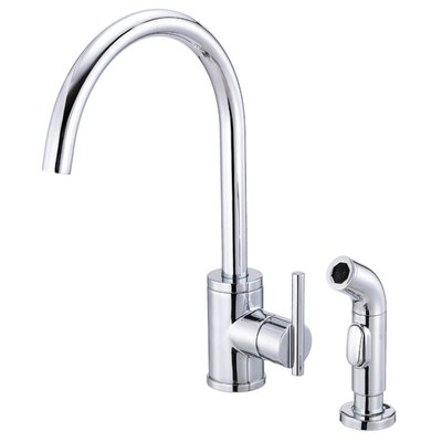 Parma Touchless Single Handle Kitchen Faucet with Side Spray Finish: Chrome