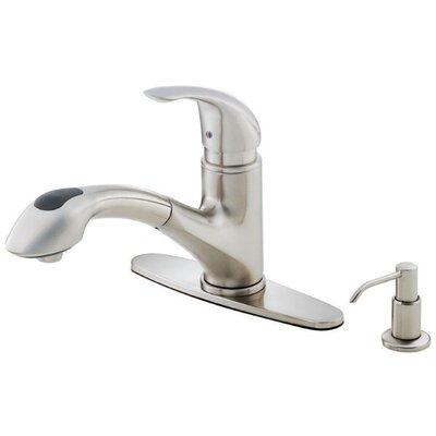 Melrose Single Handle Deck Mount Kitchen Faucet Finish: Stainless Steel