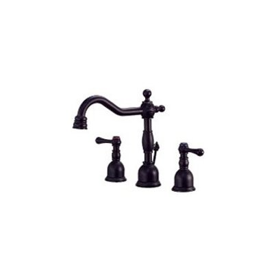 Opulence Mini Widespread Bathroom Faucet with Double Lever Handles Finish: Satin Black
