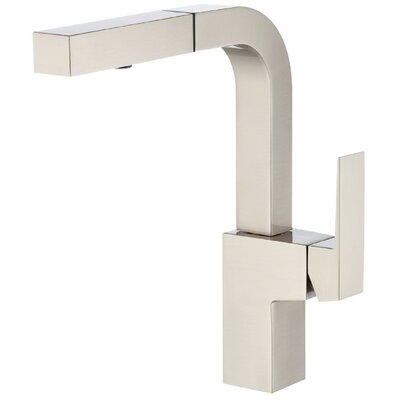 Mid-Town Single Handle Deck Mount Kitchen Faucet Finish: Stainless Steel