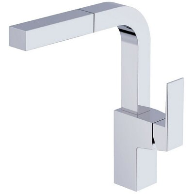 Mid-Town Pull Out Single Handle Kitchen Faucet Finish: Chrome