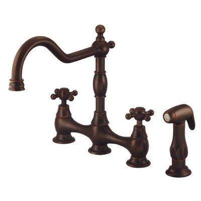 Opulence Double Handle Deck Mount Kitchen Faucet Finish: Tumbled Bronze