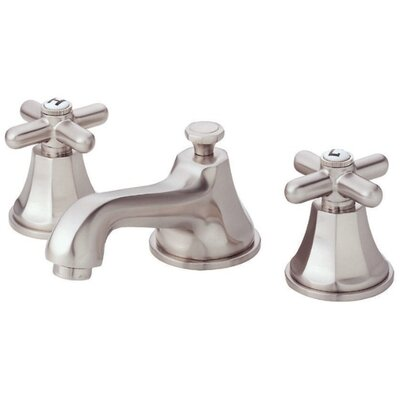 Brandywood Double Handle Mini Widespread Bathroom Faucet Finish: Brushed Nickel