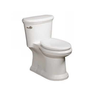 Orrington High Efficiency 1.28 GPF Elongated One-Piece Toilet Finish: White