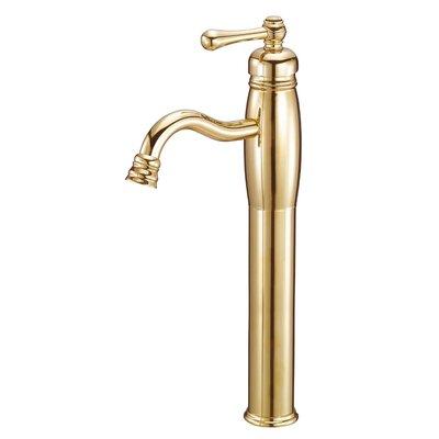 Opulence Single Handle Single Hole Bathroom Faucet Finish: Polished Brass (PVD)