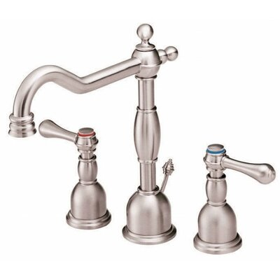 Opulence Double Handle Mini Widespread Bathroom Faucet Finish: Brushed Nickel
