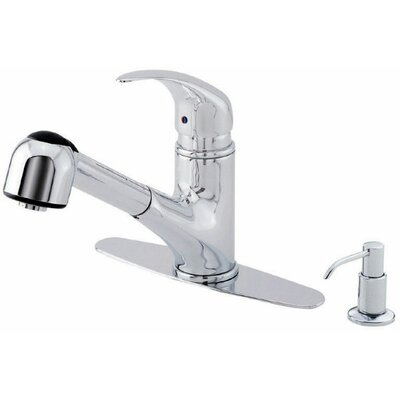 Melrose Single Handle Deck Mount Kitchen Faucet Finish: Chrome