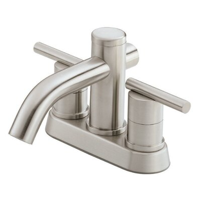 Parma Double Handle Centerset Bathroom Faucet Finish: Brushed Nickel