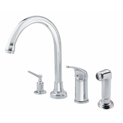 Melrose Touchless Single Handle Kitchen Faucet and Soap Dispenser Finish: Chrome