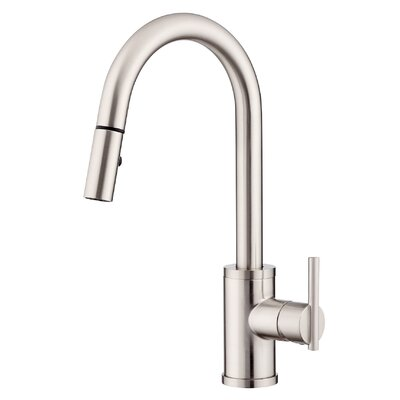 Parma Single Handle Deck Mounted Kitchen Faucet Finish: Stainless Steel