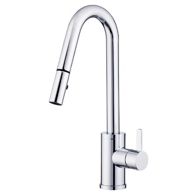 Amalfi Single Handle Deck Mounted Kitchen Faucet Finish: Chrome