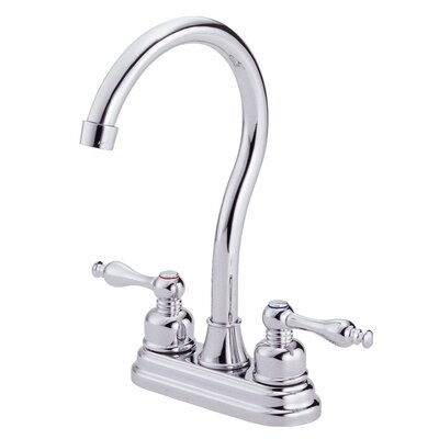 Sheridan Double Handle Kitchen Faucet with Side Spray Finish: Chrome