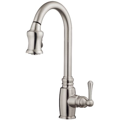 Opulence Single Handle Deck Mounted Kitchen Faucet Finish: Stainless Steel