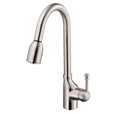Melrose Single Handle Deck Mounted Kitchen Faucet Finish: Stainless Steel