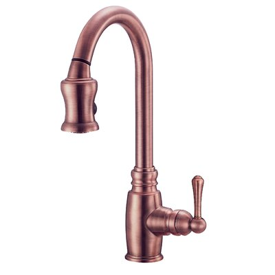 Opulence Single Handle Deck Mounted Kitchen Faucet Finish: Tumbled Bronze