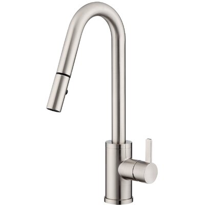 Amalfi Single Handle Deck Mounted Kitchen Faucet Finish: Stainless Steel