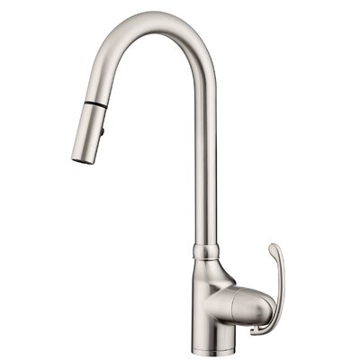 Anu Single Handle Kitchen Faucet with Side Spray Finish: Stainless Steel
